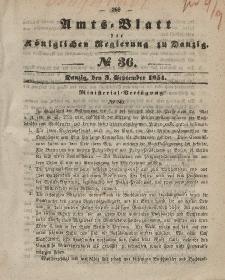 Amts-Blatt der Königlichen Regierung zu Danzig, 3. September 1851, Nr. 36