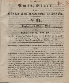 Amts-Blatt der Königlichen Regierung zu Danzig, 8. Oktober 1851, Nr. 41