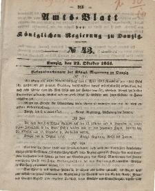 Amts-Blatt der Königlichen Regierung zu Danzig, 22. Oktober 1851, Nr. 43