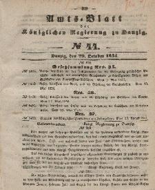 Amts-Blatt der Königlichen Regierung zu Danzig, 29. Oktober 1851, Nr. 44