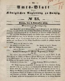 Amts-Blatt der Königlichen Regierung zu Danzig, 5. November 1851, Nr. 45