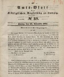 Amts-Blatt der Königlichen Regierung zu Danzig, 26. November 1851, Nr. 48