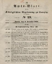 Amts-Blatt der Königlichen Regierung zu Danzig, 3. Dezember 1851, Nr. 49