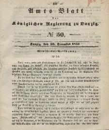 Amts-Blatt der Königlichen Regierung zu Danzig, 10. Dezember 1851, Nr. 50