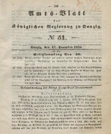 Amts-Blatt der Königlichen Regierung zu Danzig, 17. Dezember 1851, Nr. 51