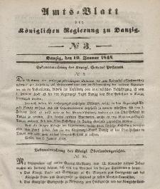 Amts-Blatt der Königlichen Regierung zu Danzig, 19. Januar 1848, Nr. 3