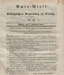 Amts-Blatt der Königlichen Regierung zu Danzig, 2. Februar 1848, Nr. 5