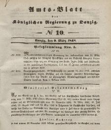Amts-Blatt der Königlichen Regierung zu Danzig, 8. März 1848, Nr. 10