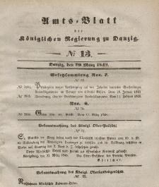 Amts-Blatt der Königlichen Regierung zu Danzig, 29. März 1848, Nr. 13