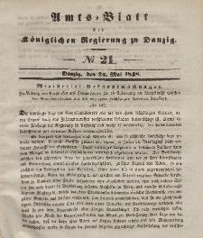 Amts-Blatt der Königlichen Regierung zu Danzig, 24. Mai 1848, Nr. 21