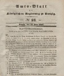 Amts-Blatt der Königlichen Regierung zu Danzig, 14. Juni 1848, Nr. 24