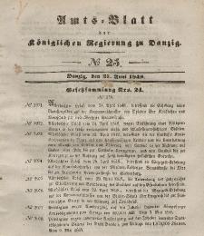 Amts-Blatt der Königlichen Regierung zu Danzig, 21. Juni 1848, Nr. 25