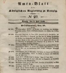 Amts-Blatt der Königlichen Regierung zu Danzig, 5. Juli 1848, Nr. 27