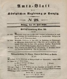 Amts-Blatt der Königlichen Regierung zu Danzig, 12. Juli 1848, Nr. 28