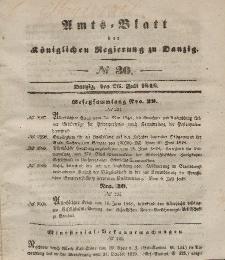 Amts-Blatt der Königlichen Regierung zu Danzig, 26. Juli 1848, Nr. 30