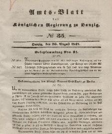 Amts-Blatt der Königlichen Regierung zu Danzig, 30. August 1848, Nr. 35