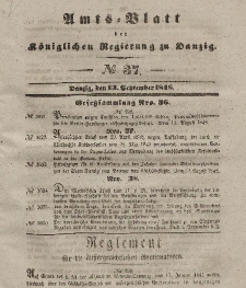 Amts-Blatt der Königlichen Regierung zu Danzig, 13. September 1848, Nr. 37