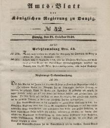 Amts-Blatt der Königlichen Regierung zu Danzig, 18. Oktober 1848, Nr. 42