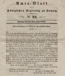 Amts-Blatt der Königlichen Regierung zu Danzig, 29. November 1848, Nr. 48