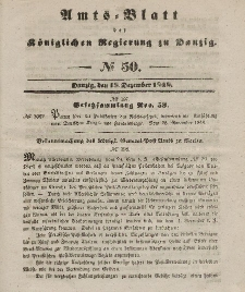 Amts-Blatt der Königlichen Regierung zu Danzig, 13. Dezember 1848, Nr. 50