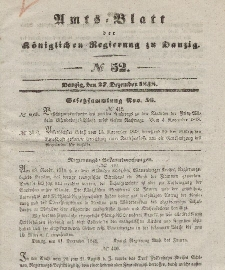 Amts-Blatt der Königlichen Regierung zu Danzig, 27. Dezember 1848, Nr. 52