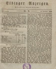 Elbinger Anzeigen, Nr. 3. Mittwoch, 9. Januar 1828