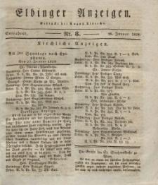 Elbinger Anzeigen, Nr. 8. Sonnabend, 26. Januar 1828