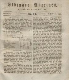 Elbinger Anzeigen, Nr. 11. Mittwoch, 6. Februar 1828