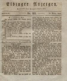 Elbinger Anzeigen, Nr. 23. Mittwoch, 19. März 1828