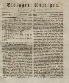 Elbinger Anzeigen, Nr. 25. Mittwoch, 26. März 1828