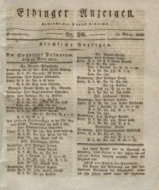 Elbinger Anzeigen, Nr. 26. Sonnabend, 29. März 1828