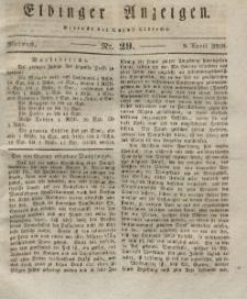 Elbinger Anzeigen, Nr. 29. Mittwoch, 9. April 1828