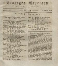 Elbinger Anzeigen, Nr. 32. Sonnabend, 19. April 1828