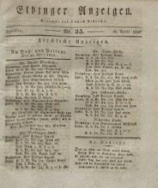 Elbinger Anzeigen, Nr. 35. Dienstag, 29. April 1828