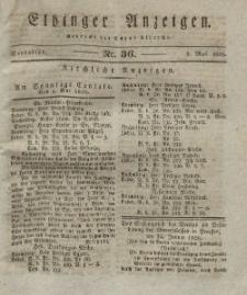 Elbinger Anzeigen, Nr. 36. Sonnabend, 3. Mai 1828