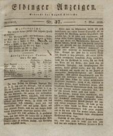 Elbinger Anzeigen, Nr. 37. Mittwoch, 7. Mai 1828