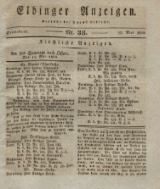 Elbinger Anzeigen, Nr. 38. Sonnabend, 10. Mai 1828