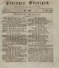 Elbinger Anzeigen, Nr. 40. Sonnabend, 17. Mai 1828