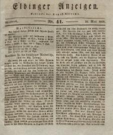 Elbinger Anzeigen, Nr. 41. Mittwoch, 21. Mai 1828