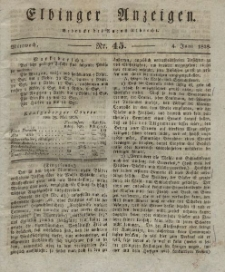 Elbinger Anzeigen, Nr. 45. Mittwoch, 4. Juni 1828