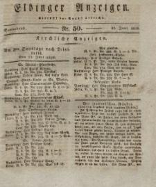 Elbinger Anzeigen, Nr. 50. Sonnabend, 21. Juni 1828