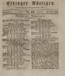 Elbinger Anzeigen, Nr. 52. Sonnabend, 28. Juni 1828