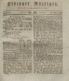 Elbinger Anzeigen, Nr. 57. Mittwoch, 16. Juli 1828