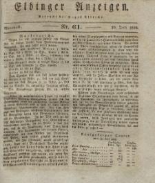 Elbinger Anzeigen, Nr. 61. Mittwoch, 30. Juli 1828