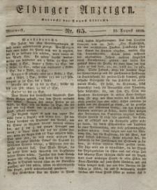 Elbinger Anzeigen, Nr. 65. Mittwoch, 13. August 1828