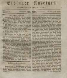 Elbinger Anzeigen, Nr. 69. Mittwoch, 27. August 1828