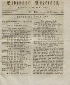Elbinger Anzeigen, Nr. 76. Sonnabend, 20. September 1828