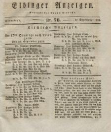Elbinger Anzeigen, Nr. 78. Sonnabend, 27. September 1828