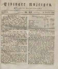 Elbinger Anzeigen, Nr. 83. Mittwoch, 15. Oktober 1828