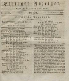 Elbinger Anzeigen, Nr. 90. Sonnabend, 8. November 1828